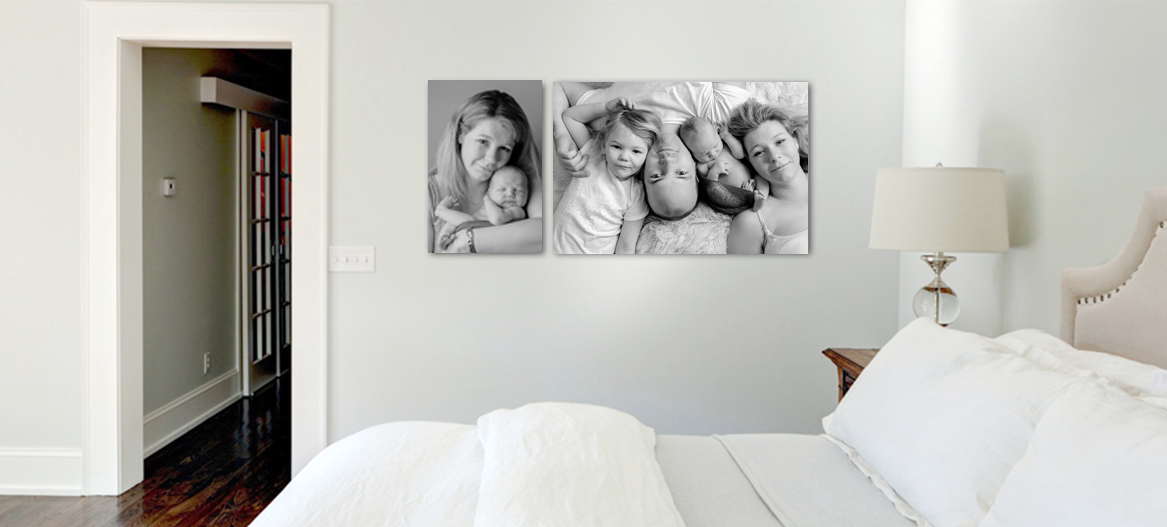 Picture the images from your portrait session at the perfect size on your wall
